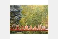 Tren din lemn cu numele copilului TN07